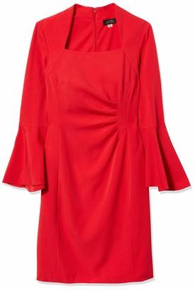 Tahari by Arthur S. Levine Women's 3/4 Wide Sleeve Sheath Dress
