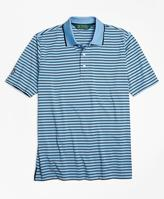 Brooks Brothers St Andrews Links Bar Stripe Golf Polo Shirt