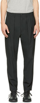 Diesel Black Gold Black Double Pleated Trousers