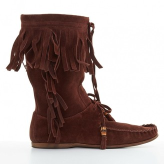 Gucci \N Brown Suede Boots