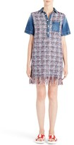 MSGM Women's Tweed & Denim Shirtdress
