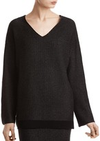 ATM Anthony Thomas Melillo Wool-Cashmere Pinstriped Sweater
