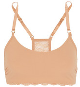 Commando Double-take Stretch Lace-trimmed Jersey Soft-cup Bra - Beige