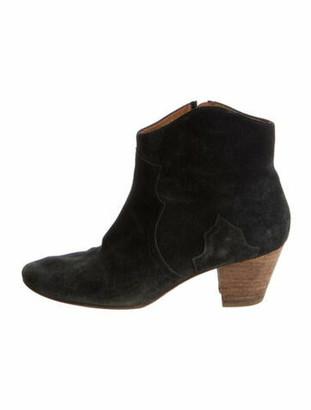 Etoile Isabel Marant Suede Western Boots Grey