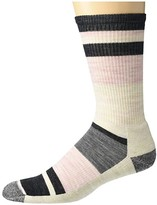 Smartwool Hike Light Striped Crew (Charcoal) Women's Crew Cut Socks Shoes