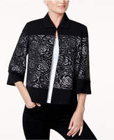 Kasper Floral-Print Jacket