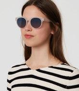 LOFT Cheetah Print Round Sunglasses