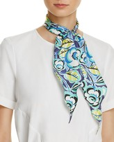 Echo Sketchy Floral Silk Diamond Scarf