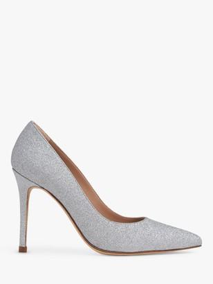 LK Bennett Fern Sparkling Court Shoes, Silver