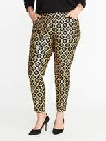 Old Navy Smooth & Slim Plus-Size Metallic-Printed Pixie Pants