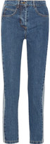 Paul & Joe Clamecy Paneled Slim Boyfriend Jeans - Mid denim