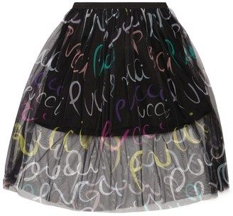 Emilio Pucci Junior Heliconia Print Netted Skirt (6-14 Years)