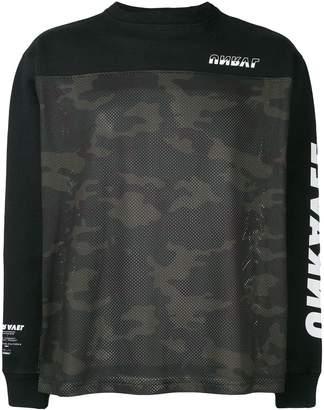 Unravel Project camouflage printed sleeve sweatshirt