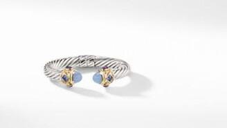 David Yurman Renaissance Bracelet With 14K Gold And Chalcedony