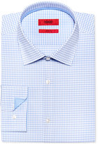 HUGO BOSS Men's Fitted Check Dress Shirt