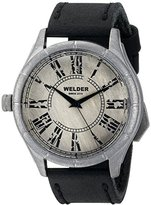 Welder Unisex 502 Analog Display Quartz Black Watch