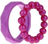 MyBoo Autism/Sensory/Teething Chewable Geometric and Beads Bracelet Bundle - Set of 2