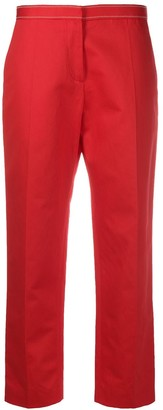 Marni Mid-Rise Cropped Straight-Leg Trousers