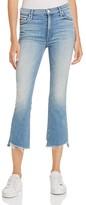 Mother Insider Fray Hem Crop Jeans in When Sparks Fly
