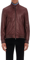 Brioni MEN'S NAPPA LEATHER BOMBER JACKET