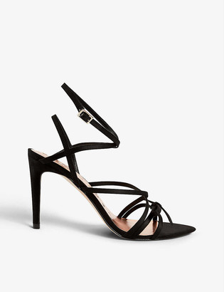 Ted Baker Relana crossover-strap faux-suede heeled sandals