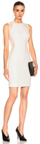 Stella McCartney Stretch Cady Sleeveless Dress in White.