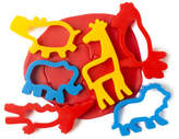 Educational Colours Dough Jungle Animal Cutters 6 pack