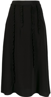 McQ Swallow Ruffle Trim Skirt