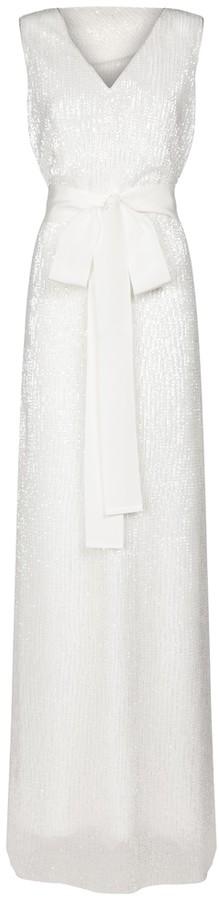 Max Mara Abbaco sequined bridal gown