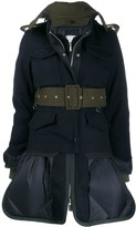 Sacai panelled utility military jacket