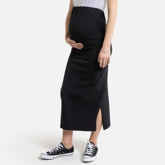 La Redoute Collections Cotton Midi Maternity Skirt