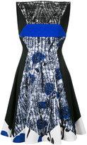 Talbot Runhof embroidered shift dress
