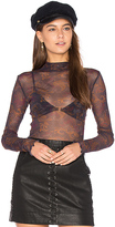 Free People Pukka Mesh Layering Top in Black