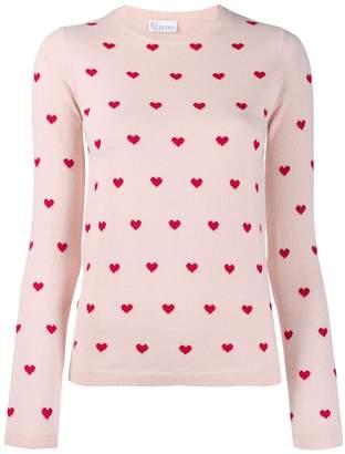 RED Valentino Heart print sweater