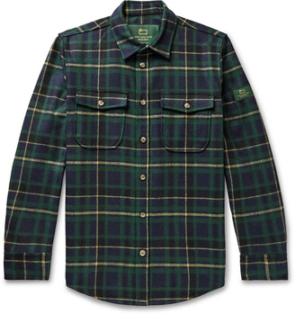 Woolrich Aimé Leon Dore + Checked Wool-Blend Flannel Shirt