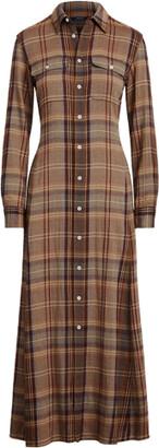 Ralph Lauren Plaid Long-Sleeve Shirtdress