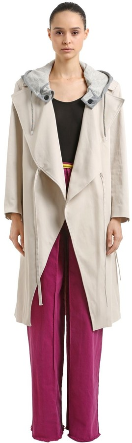 Aalto Hooded Cotton Trench Coat