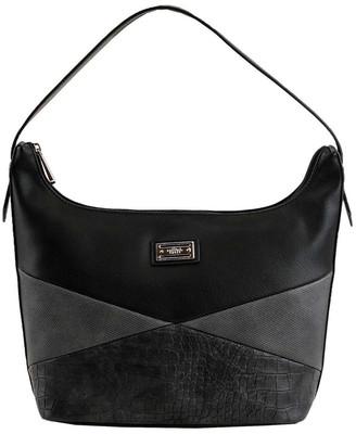 Cellini CSQ275 Darwin Zip Top Black Hobo Bag