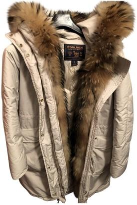 Woolrich Ecru Raccoon Coat for Women