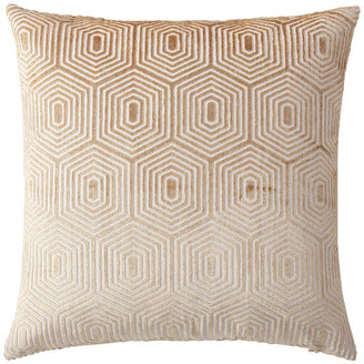 MHF Home Harper Gold Geometric 18-inch Throw Pillow Cover