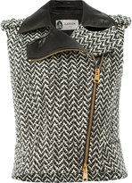 Lanvin tweed style gilet - women - Cotton/Polyamide/Polyester/Alpaca - 38