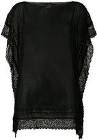Faliero Sarti sheer top - women - Silk/Cotton/Nylon - One Size