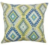 Bungalow Rose Brinsmead Ikat Cotton Throw Pillow Cover Color: Aegean