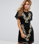 boohoo Embroidered Lace Dress