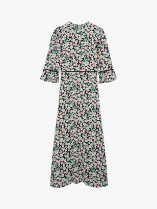 Oasis Floral Midi Dress, Multi