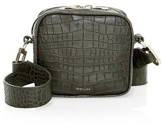 DeMellier Small Athens Croc-Embossed Leather Crossbody Bag