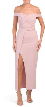 Juniors Australian Designed Off The Shoulder Dress