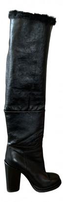 Dolce & Gabbana Black Mongolian Lamb Boots