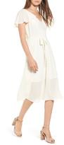 Leith Belted Flutter Sleeve Dress