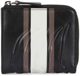 Alexander Mcqueen Black Ribcage Leather Wallet